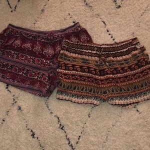 Two American Eagle Flowy Shorts